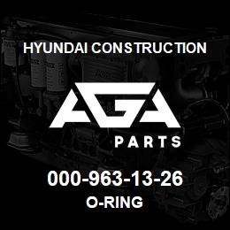 000-963-13-26 Hyundai Construction O-RING | AGA Parts