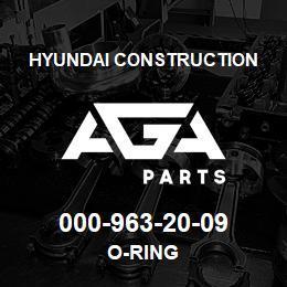 000-963-20-09 Hyundai Construction O-RING | AGA Parts