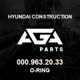 000.963.20.33 Hyundai Construction O-RING | AGA Parts