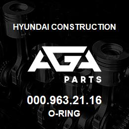 000.963.21.16 Hyundai Construction O-RING | AGA Parts