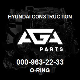 000-963-22-33 Hyundai Construction O-RING | AGA Parts