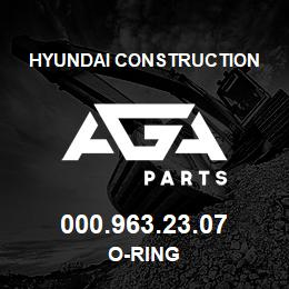 000.963.23.07 Hyundai Construction O-RING | AGA Parts