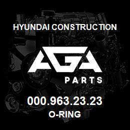 000.963.23.23 Hyundai Construction O-RING | AGA Parts