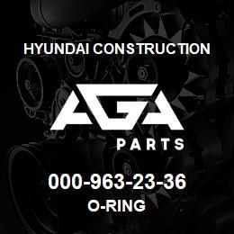 000-963-23-36 Hyundai Construction O-RING | AGA Parts