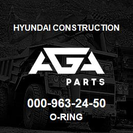 000-963-24-50 Hyundai Construction O-RING | AGA Parts