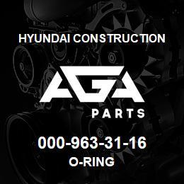 000-963-31-16 Hyundai Construction O-RING | AGA Parts