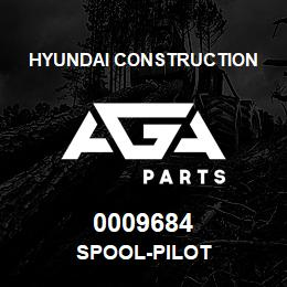 0009684 Hyundai Construction SPOOL-PILOT | AGA Parts