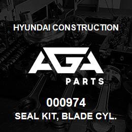 000974 Hyundai Construction SEAL KIT, BLADE CYL. | AGA Parts