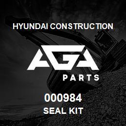 000984 Hyundai Construction SEAL KIT | AGA Parts