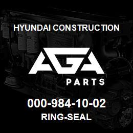 000-984-10-02 Hyundai Construction RING-SEAL | AGA Parts