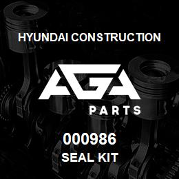000986 Hyundai Construction SEAL KIT | AGA Parts