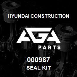 000987 Hyundai Construction SEAL KIT | AGA Parts