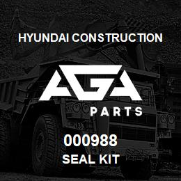 000988 Hyundai Construction SEAL KIT | AGA Parts