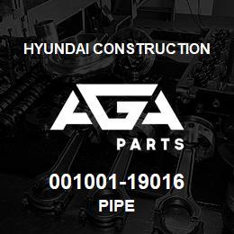 001001-19016 Hyundai Construction PIPE | AGA Parts