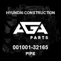 001001-32165 Hyundai Construction PIPE | AGA Parts