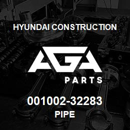 001002-32283 Hyundai Construction PIPE | AGA Parts