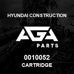 0010052 Hyundai Construction CARTRIDGE | AGA Parts