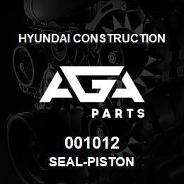 001012 Hyundai Construction SEAL-PISTON | AGA Parts