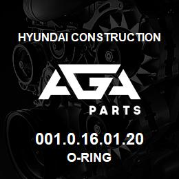 001.0.16.01.20 Hyundai Construction O-RING | AGA Parts