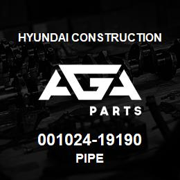 001024-19190 Hyundai Construction PIPE | AGA Parts