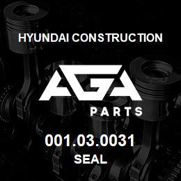 001.03.0031 Hyundai Construction SEAL | AGA Parts