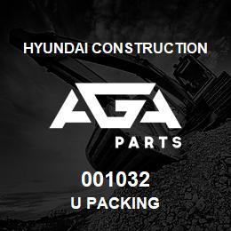 001032 Hyundai Construction U PACKING | AGA Parts