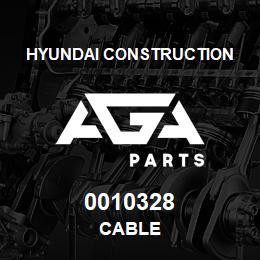 0010328 Hyundai Construction CABLE | AGA Parts