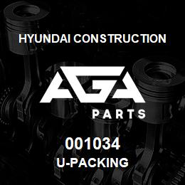001034 Hyundai Construction U-PACKING | AGA Parts