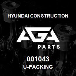 001043 Hyundai Construction U-PACKING | AGA Parts