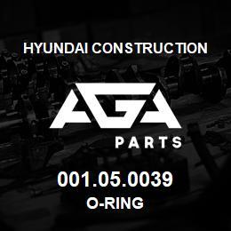 001.05.0039 Hyundai Construction O-RING | AGA Parts