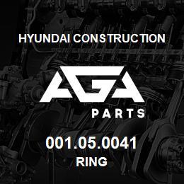 001.05.0041 Hyundai Construction RING | AGA Parts
