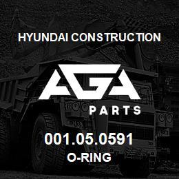 001.05.0591 Hyundai Construction O-RING | AGA Parts