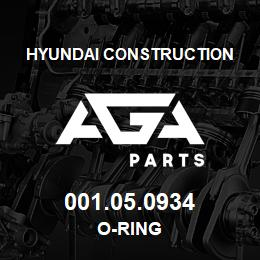 001.05.0934 Hyundai Construction O-RING | AGA Parts