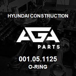 001.05.1125 Hyundai Construction O-RING | AGA Parts