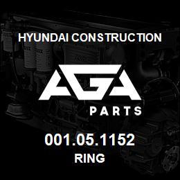 001.05.1152 Hyundai Construction RING | AGA Parts