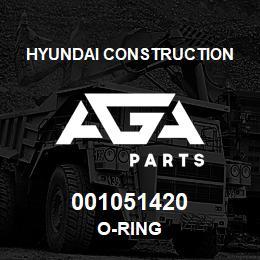 001051420 Hyundai Construction O-RING | AGA Parts