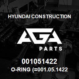 001051422 Hyundai Construction O-RING (=001.05.1422) | AGA Parts