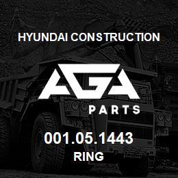 001.05.1443 Hyundai Construction RING | AGA Parts