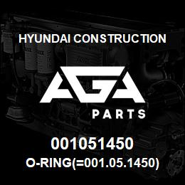 001051450 Hyundai Construction O-RING(=001.05.1450) | AGA Parts
