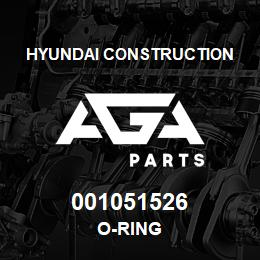 001051526 Hyundai Construction O-RING | AGA Parts