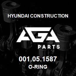001.05.1587 Hyundai Construction O-RING | AGA Parts