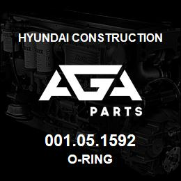 001.05.1592 Hyundai Construction O-RING | AGA Parts
