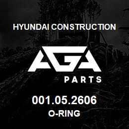 001.05.2606 Hyundai Construction O-RING | AGA Parts