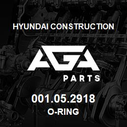 001.05.2918 Hyundai Construction O-RING | AGA Parts