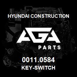 0011.0584 Hyundai Construction KEY-SWITCH   AGA Parts