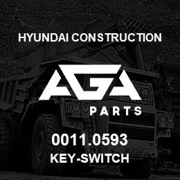 0011.0593 Hyundai Construction KEY-SWITCH | AGA Parts