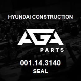 001.14.3140 Hyundai Construction SEAL | AGA Parts