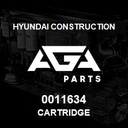0011634 Hyundai Construction CARTRIDGE | AGA Parts