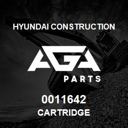 0011642 Hyundai Construction CARTRIDGE | AGA Parts