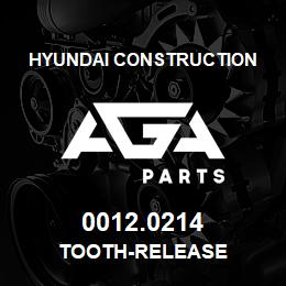 0012.0214 Hyundai Construction TOOTH-RELEASE | AGA Parts